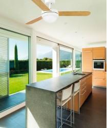 FARO Feroe 33600 Ventilatore da soffitto con Luce Bianco e Acero