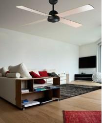 FARO Ibiza 33288 Ventilatore da Soffitto Marrone con Telecomando