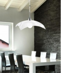FAN EUROPE Mirò S45 Lampadario Moderno in Vetro Decorato