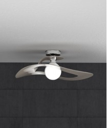 TOPLIGHT Surf 1145/PL50 TO Lampada da Soffitto 50cm Tortora