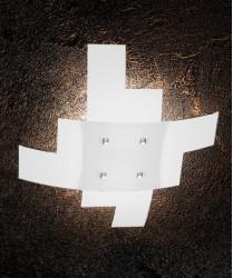 TOPLIGHT Tetris 1120/55 Lampada da Soffitto 55cm Vetro Bianco
