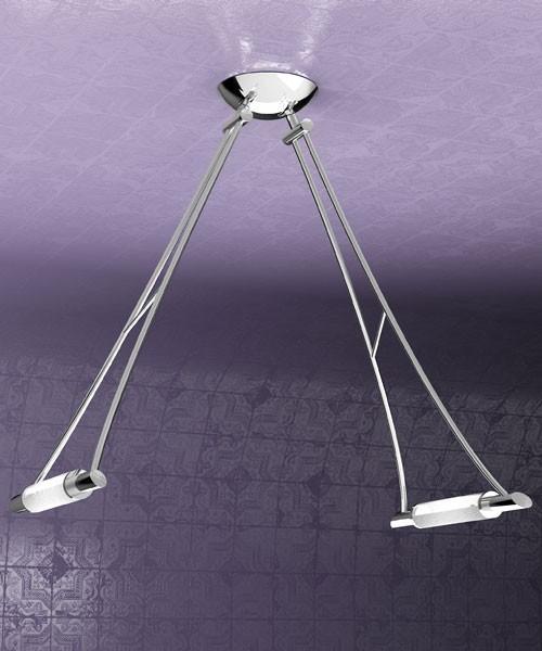 TOPLIGHT Triangle 1012/S2-CR Plafoniera Moderna Minimalista Cromo