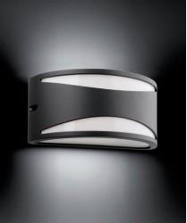 FARO Bonn-2 70697 Applique da Esterno in Alluminio Grigio Scuro