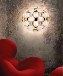 SLAMP Mida White/Gold Plafoniera Moderna a LED Bianco/Oro