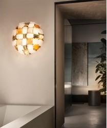 SLAMP Mida Amber Plafoniera Moderna a LED Ambra