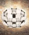 SLAMP Mida White/Platinum Plafoniera Moderna a LED Bianco e Platino