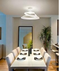 FABAS Aragon 3357-65-102 FABAS Aragon 3357-65-102 Plafoniera Moderna a LED Vetro Bianco